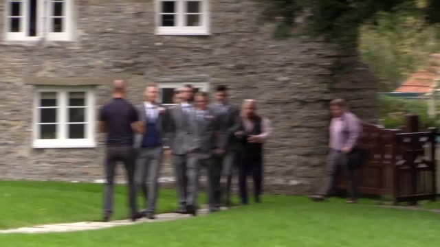guests have begun arriving for the wedding of england cricketer ben stokes he was getting married to fiancee clare ratcliffe at the church of st mary... - fiancé stock videos & royalty-free footage