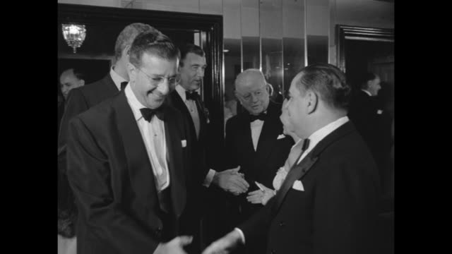 WS guests movie stars and dignitaries at round tables in Crystal Room Beverly Hills Hotel / Y Frank Freeman VPresident Paramount Pictures Corporation...