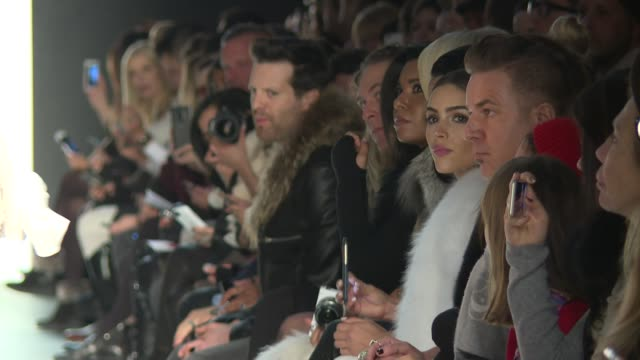 stockvideo's en b-roll-footage met guests watch models walk the runway during thomas wylde nyfw womens f/w 2016 at the dock skylight at moynihan station on february 15 2016 in new york... - thomas wylde
