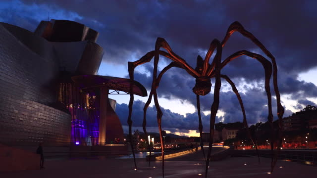 guggenheim museum, bilbao, bizkaia, basque country, spain, europe - art gallery stock videos and b-roll footage