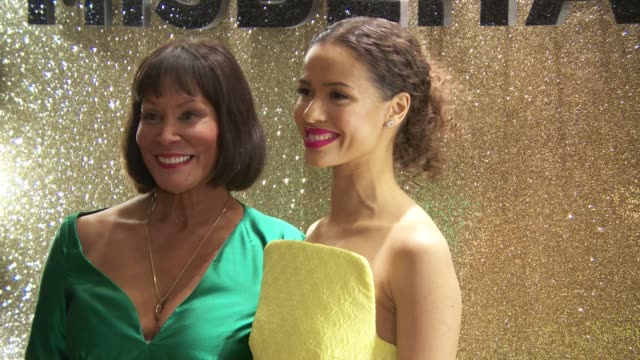 gugu mbatha-raw and jennifer hosten at 'misbehaviour' world premiere on march 9, 2020 in london, england. - messing about stock videos & royalty-free footage