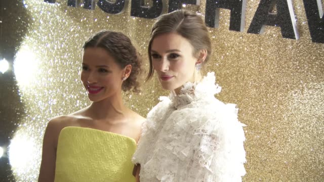 gugu mbatha-raw and keira knightley at 'misbehaviour' world premiere on march 9, 2020 in london, england. - messing about stock videos & royalty-free footage
