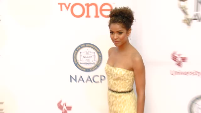 stockvideo's en b-roll-footage met gugu mbatharaw at the 46th annual naacp image awards arrivals at pasadena civic auditorium on february 06 2015 in pasadena california - pasadena civic auditorium