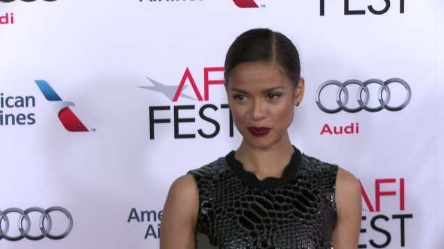 """gugu mbatha-raw at the """"concussion"""" world premiere gala screening - afi fest 2015 at tcl chinese theatre on november 10, 2015 in hollywood,... - tcl chinese theatre stock videos & royalty-free footage"""