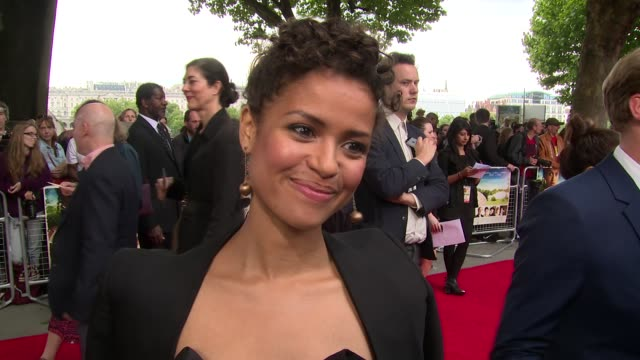 gugu mbatha-raw on london, promotions, justin bieber and audience reactions at the 'belle' premiere at bfi southbank on 5 june, 2014 in london,... - bfi southbank stock videos & royalty-free footage