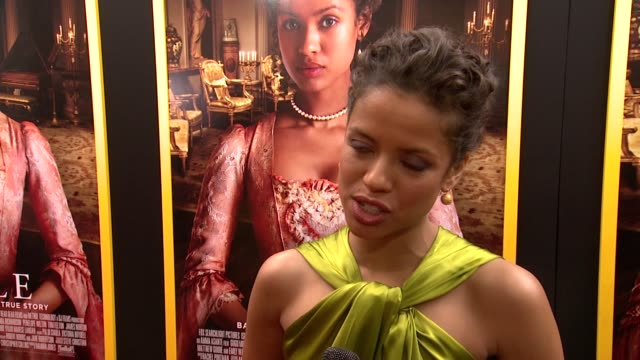 gugu mbatharaw talks about finally premiering the film whats been the most interesting aspect of her journey and what she hopes people will walk away... - paris theater manhattan stock videos and b-roll footage