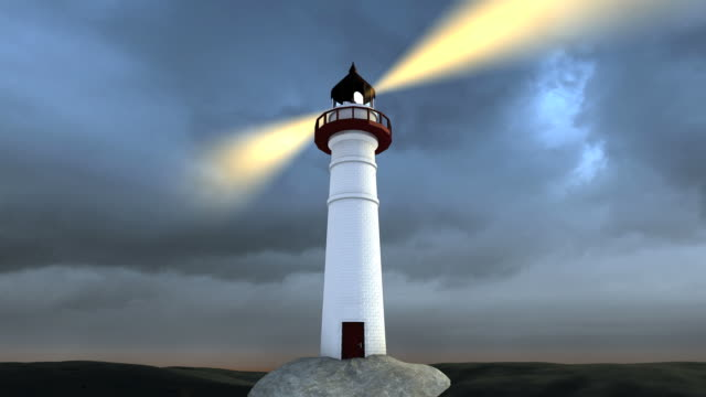 guidance on the rough seas 1080i - lighthouse stock videos & royalty-free footage