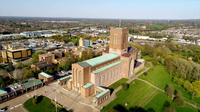 guildford cathedral - cathedral stock videos & royalty-free footage