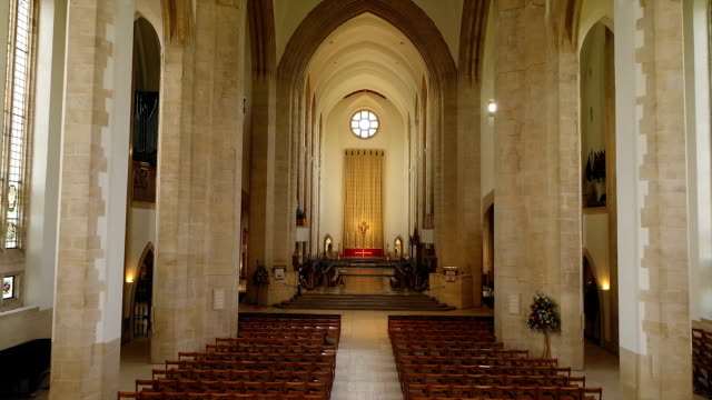guildford cathedral - guildford stock videos & royalty-free footage
