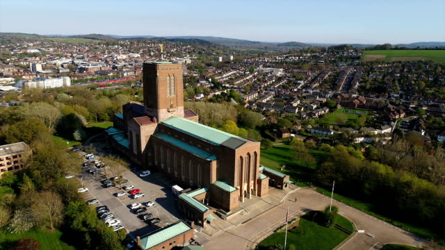 guildford cathedral - guildford stock videos and b-roll footage