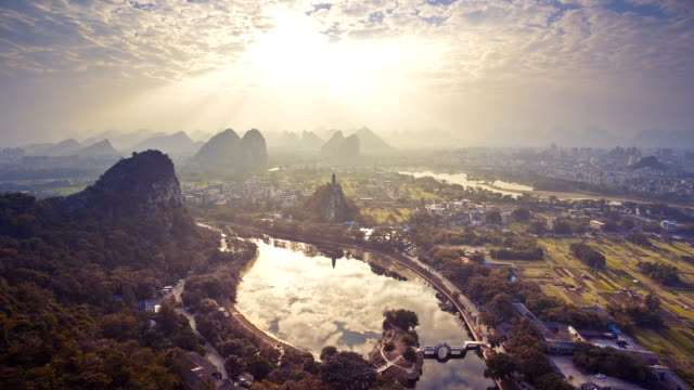 guilin chuanshan park - ancient stock videos & royalty-free footage