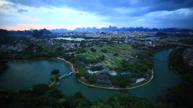guilin chuanshan park,china - li river stock videos & royalty-free footage