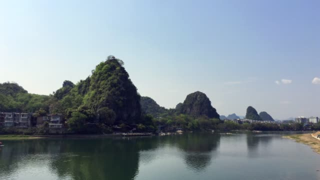 guilin city scape - li river stock videos & royalty-free footage