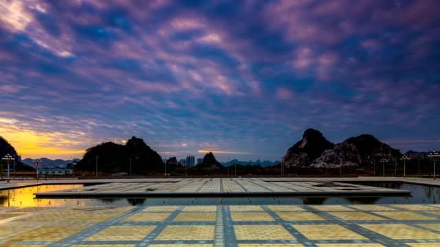 Guilin Hills im Morgengrauen