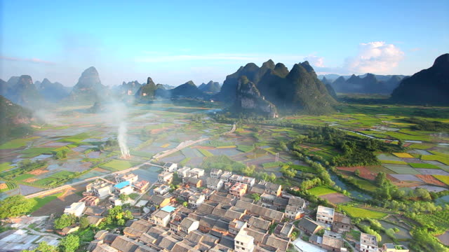 Guilin Hills in der Dämmerung, China