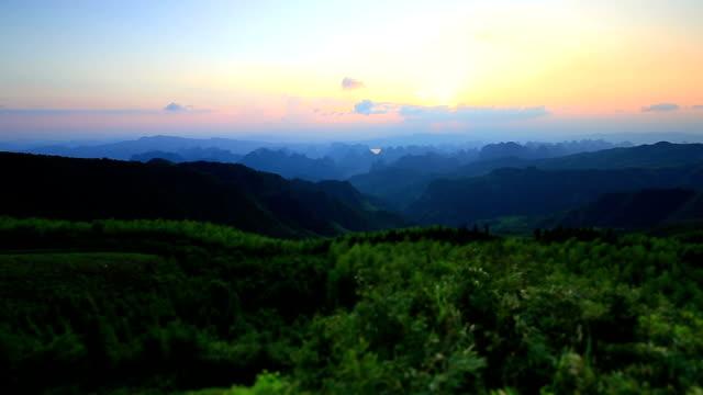Guilin Hills at Dusk ,China