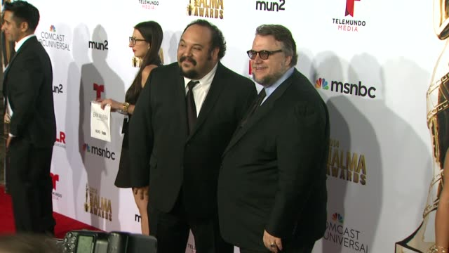 guillermo del toro and jorge gutierrez at the 2014 nclr alma awards at pasadena civic auditorium on october 10 2014 in pasadena california - pasadena civic auditorium stock-videos und b-roll-filmmaterial