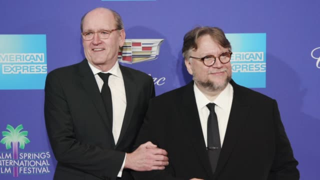 Guillermo del Toro and Richard Jenkins at the 29th Annual Palm Springs International Film Festival Awards Gala at Palm Springs Convention Center on...