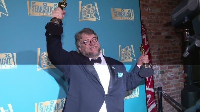 guillermo del toro at 20th century fox fox searchlight oscars party 2018 at tao on march 04 2018 in los angeles california - 90th annual academy awards stock videos & royalty-free footage