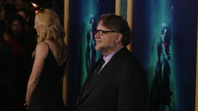 vídeos de stock, filmes e b-roll de guillermo del toro at the shape of water los angeles premiere presented by fox searchlight pictures at the academy of motion picture arts and... - academy of motion picture arts and sciences