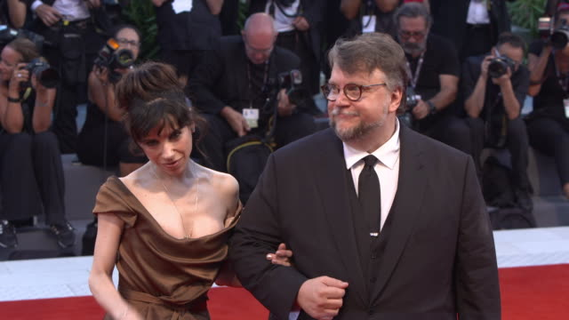 guillermo del toro sally hawkins at 'the shape of water' red carpet 74th venice international film festival at palazzo del cinema on august 31 2017... - sally hawkins stock videos & royalty-free footage