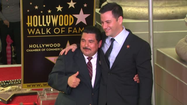 stockvideo's en b-roll-footage met guillermo diaz rodriguez and jimmy kimmel at jimmy kimmel honored with star on the hollywood walk of fame in hollywood, ca, on 1/25/13. - jimmy kimmel