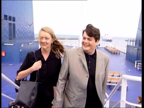 guilty verdict lib from server 'lib shayler keep' calais august 01 shayler posing for photocall on ferry with machon as returning to britain to face... - august stock videos & royalty-free footage