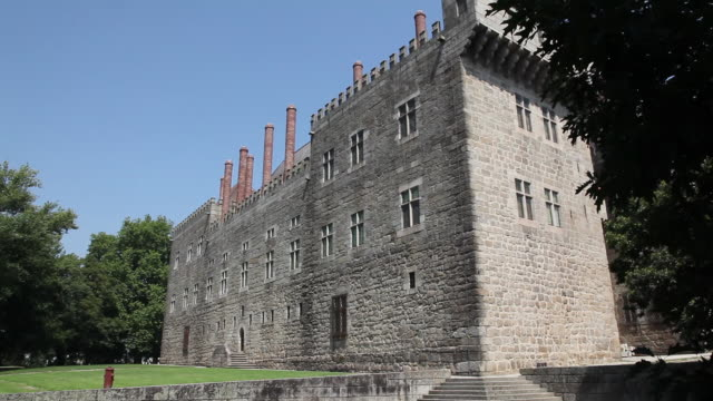 Guimaraes, exterior view of the Palace of the Dukes of Braganca, 15th century, built by Dom Alfonso, Guimaraes, UNESCO World Heritage