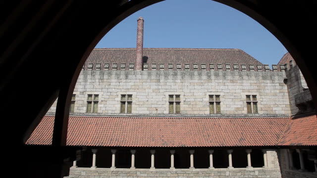 Guimaraes, interior of the Palace of the Dukes of Braganca, 15th century, built by Dom Alfonso, Guimaraes, UNESCO World Heritage