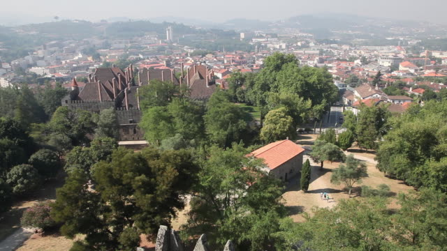 Guimaraes, View of the city, from the castle UNESCO World Heritage