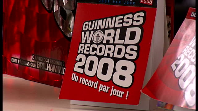 int display of guinness world records 2008 books - world record stock videos & royalty-free footage