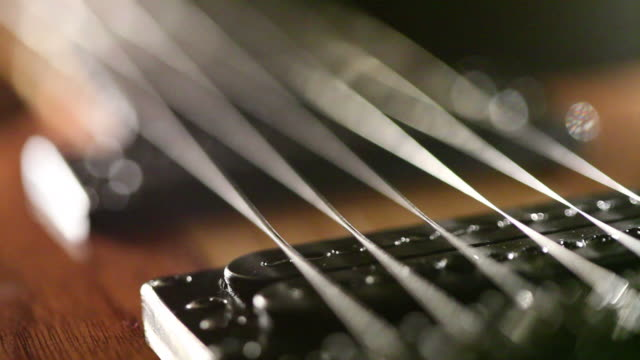 guitar down the neck - musical instrument string stock videos & royalty-free footage