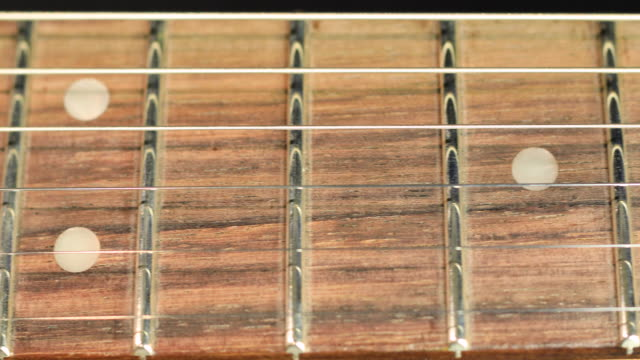 guitar fretboad - slider shot - fretboard stock videos & royalty-free footage
