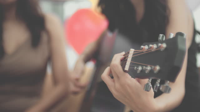guitar & friends - pop music stock videos & royalty-free footage