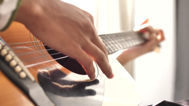 guitar in musician hands - musician stock videos & royalty-free footage