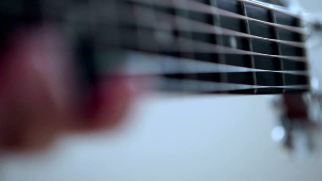 guitar in musician hands - musical instrument string stock videos and b-roll footage