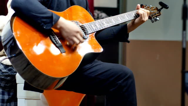 Performance de guitare au concert