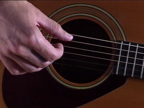 guitar picking - plucking an instrument stock videos & royalty-free footage