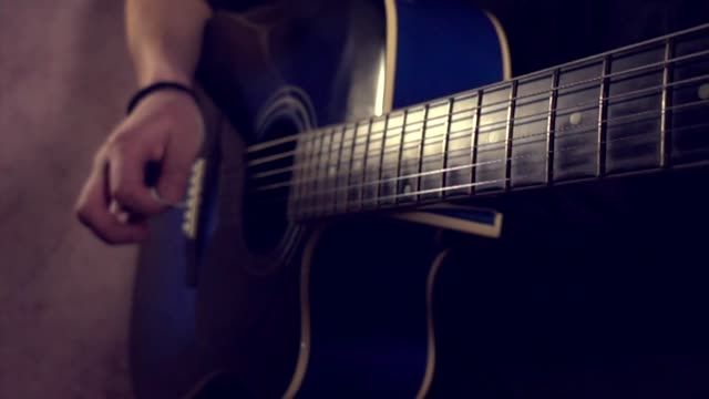 guitar play slow motion