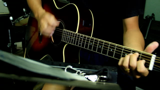 guitar player close-up - fretboard stock videos & royalty-free footage