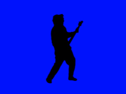 guitar player silhouette - bass guitar stock videos & royalty-free footage