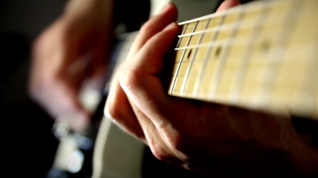 guitar player - guitar stock videos & royalty-free footage