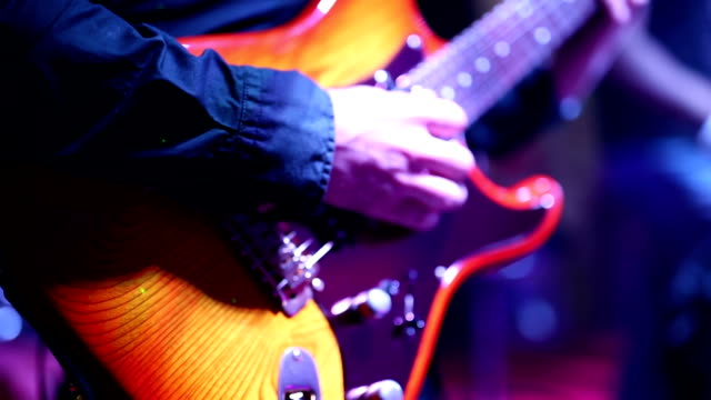 guitar player - electric guitar stock videos and b-roll footage