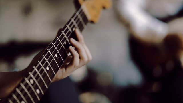 guitar player - rock group stock videos & royalty-free footage