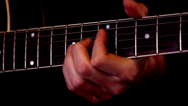 guitar playing (hd) - fretboard stock videos & royalty-free footage