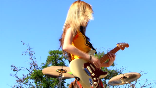 guitarist girl - performance group stock videos and b-roll footage