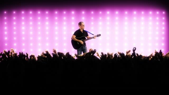 Gitarrist auf einer Konzertbühne