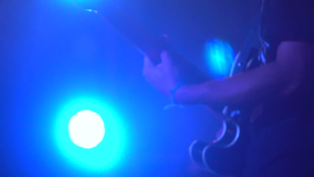guitarist playing guitar close up - electric guitar stock videos and b-roll footage