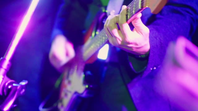 guitarist playing guitar - live event stock videos & royalty-free footage