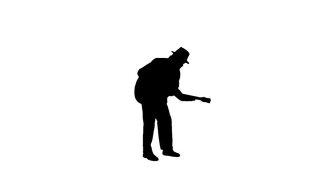 Guitarist silhouette man